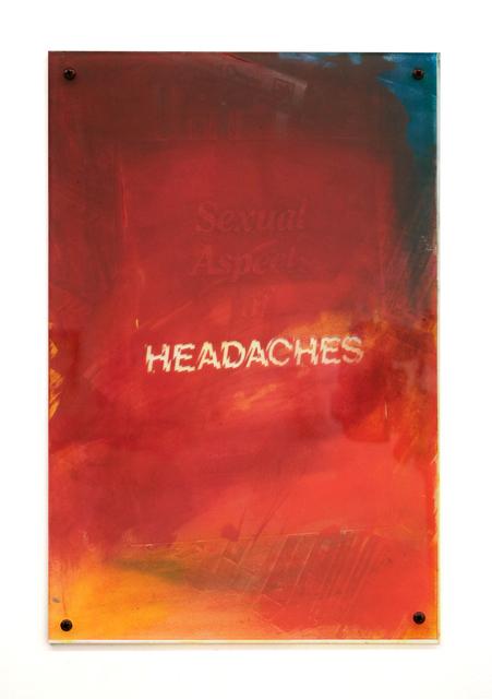 Sara Greenberger Rafferty, 'Headaches 1 ', 2017, Halsey McKay Gallery