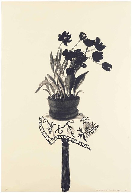 David Hockney, 'Black Tulips', 1980, Christie's