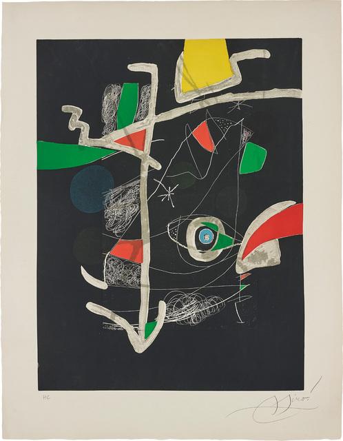 Joan Miró, 'Untitled, plate VI from Llibre dels sis Sentis (Book of the Six Senses)', 1981, Phillips