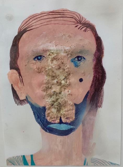 , 'Ritratto con odore e blu,' 2014, Robert Kananaj Gallery
