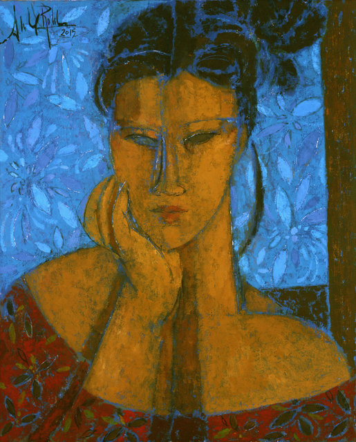 , 'Mujer en Azul,' 2015, Albemarle Gallery   Pontone Gallery