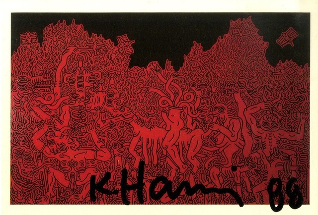 Keith Haring, 'Hand Signed Card', 1988, Alpha 137 Gallery Gallery Auction