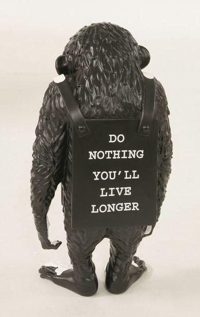 Banksy, 'Monkey Sign - Do Nothing You'll Live Longer (Black)', 2016, Design/Decorative Art, Resin, Sworders