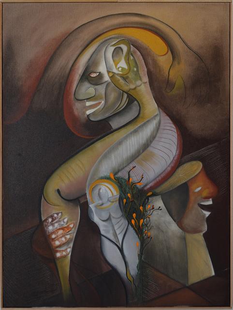 , 'Figure seated on a head stool,' 2017, Gallery 300