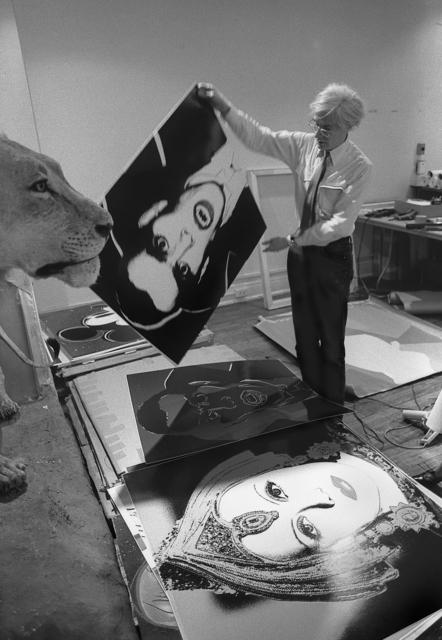 , 'Andy Warhol Holding Dracula Myth 1981,' 2015, Maison Gerard