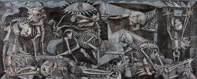 Ron English, 'Graveyard Guernica,' 2011, Lazarides