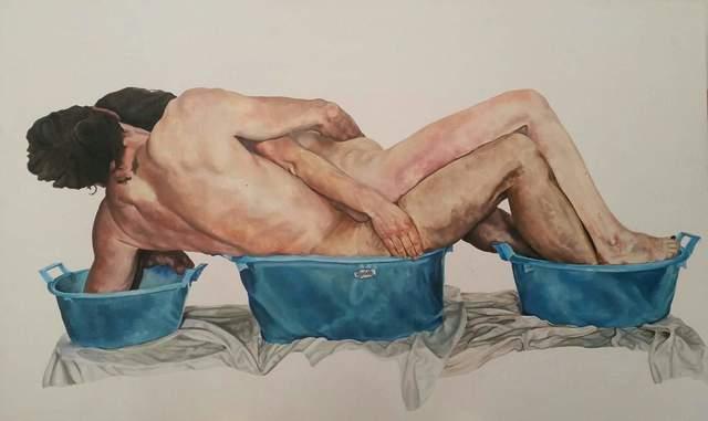 , 'Les trois bassins bleu,' 2017, Barbara Frigerio Contemporary