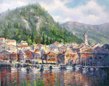 , 'View of Varenna,' , The Loft Fine Art