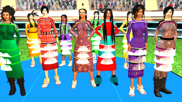, 'Jingle Dancers Assembled,' 2011, ELLEPHANT