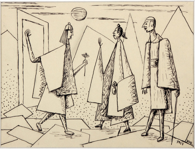 , 'Sin Titulo (la visita),' 1955, Galería Rubbers Internacional