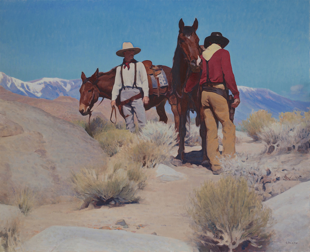 """Glenn Dean, '""""They Come with the Dust and Go with the Wind""""', 2018, Painting, Oil, Maxwell Alexander Gallery"""