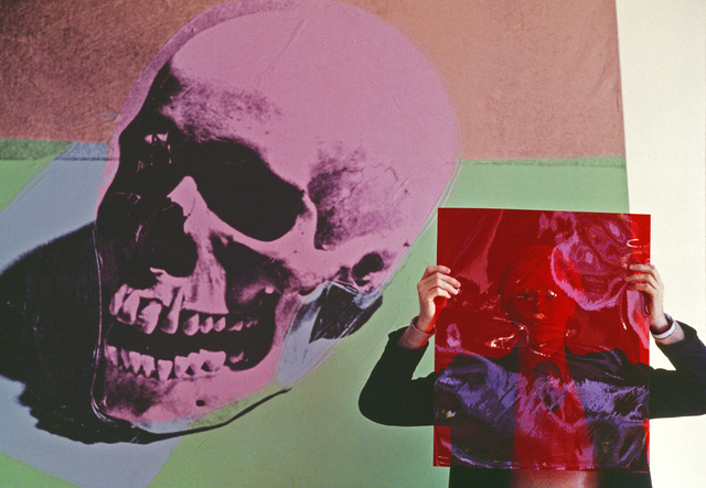 """Thomas Hoepker, 'Andy Warhol with a pink skull painting in his """"Factory"""" at Union Square', 1981, Galeria de Babel"""