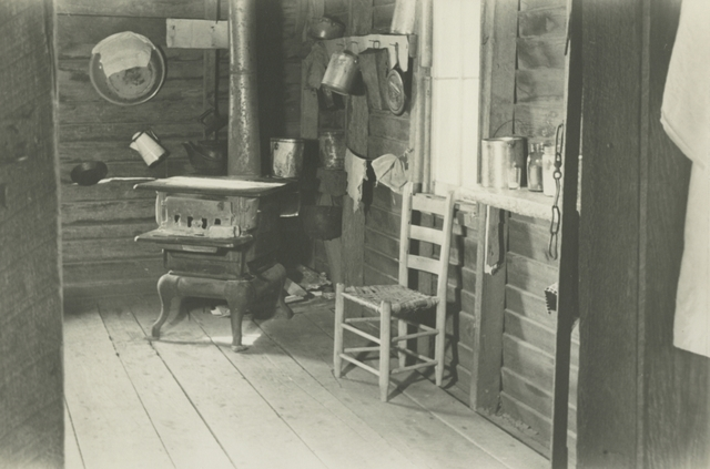 Walker Evans, 'Kitchen in Floyd Burroughs's Home, Hale County, Alabama', 1936, Photography, Gelatin silver print; printed c.1936, Howard Greenberg Gallery