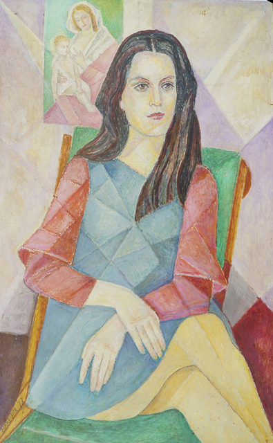 Marie Vorobieff Marevna, 'Marika with a picture of Madonna and Child behind her', Roseberys