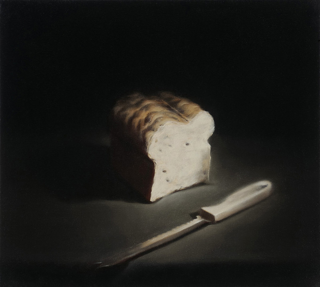 , 'Bread And Bread Knife,' 2009, Flowers