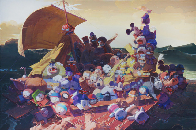 Zhang Gong, 'The Raft of the Medusa', 2013, Painting, Acrylic on canvas, Eli Klein Gallery