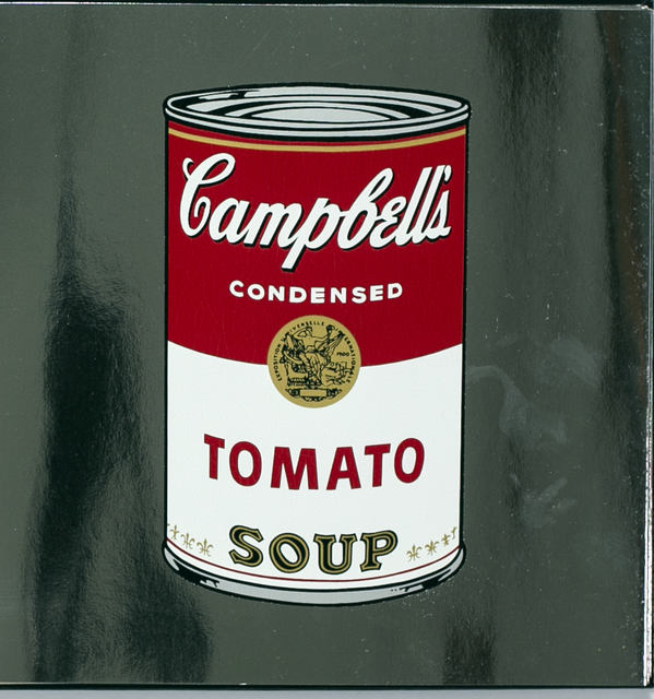 Andy Warhol, 'Andy Warhol Campbell's Tomato Soup Can on Silver Metallic Paper', 1988, White Cross