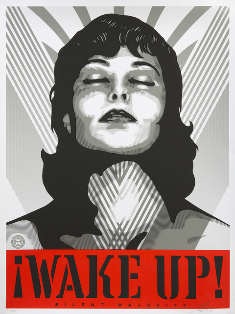 Shepard Fairey (OBEY), 'Wake Up!', 2017, Julien's Auctions