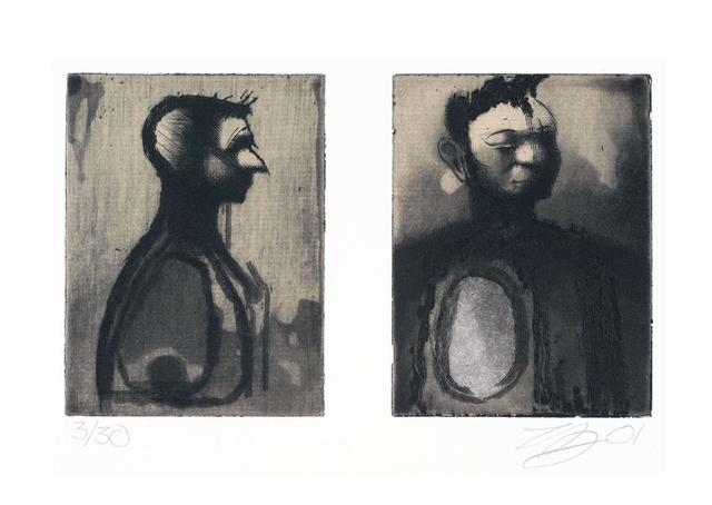 , 'Deux têtes,' 2001, Atelier-Galerie A.Piroir
