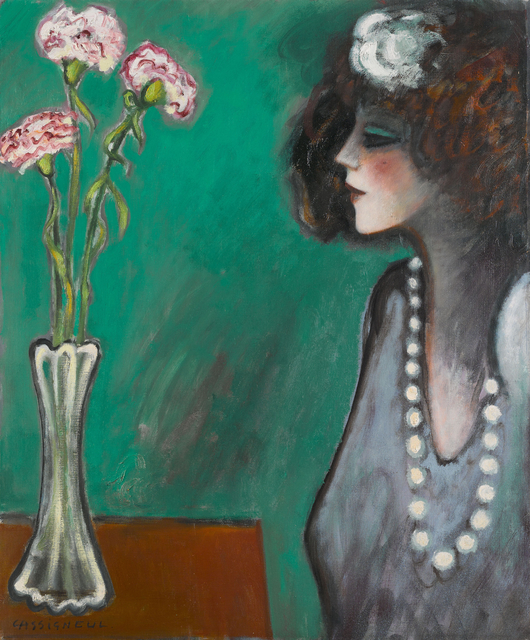 , 'Profil aux Oeillets,' ca. 1989, SmithDavidson Gallery
