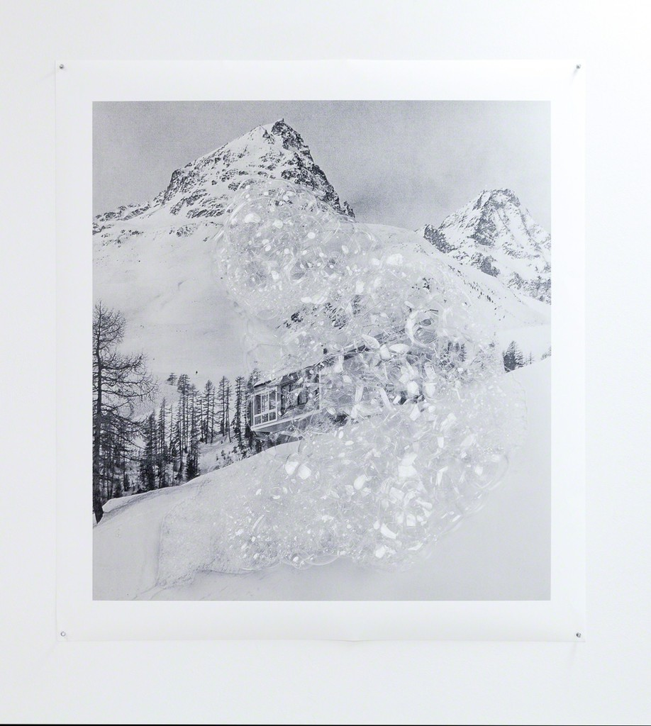exhibition view: Holliday homes series,  St Moritz, 2017 | archival pigment print on 220 gsm.Innova smooth Art paper, 124x112cm, ohne Rahmen | edition of 3, No. 1