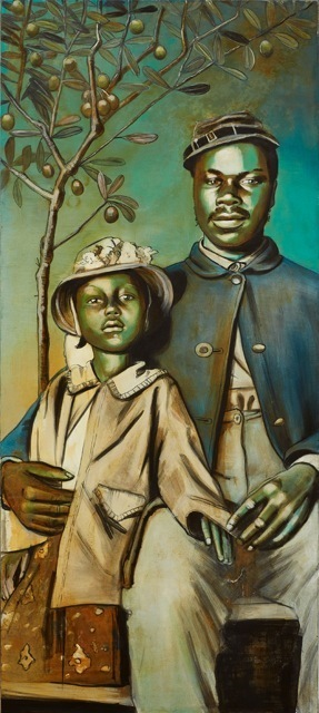 Charlotta Janssen, 'Buffalo Soldier Madonna With Child And Olive Tree', 2016, RJD Gallery