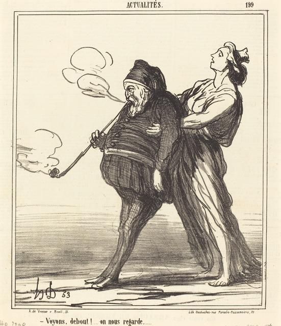 Honoré Daumier, 'Voyons!... debout, on nous regarde', 1866, National Gallery of Art, Washington, D.C.