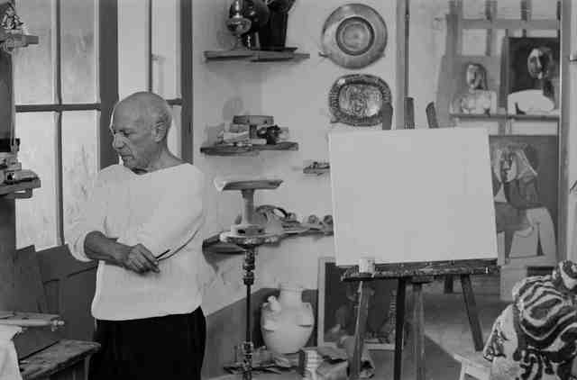 , 'Picasso in his Le Fournas studio at Vallauris,' 26, Cahiers d'Art