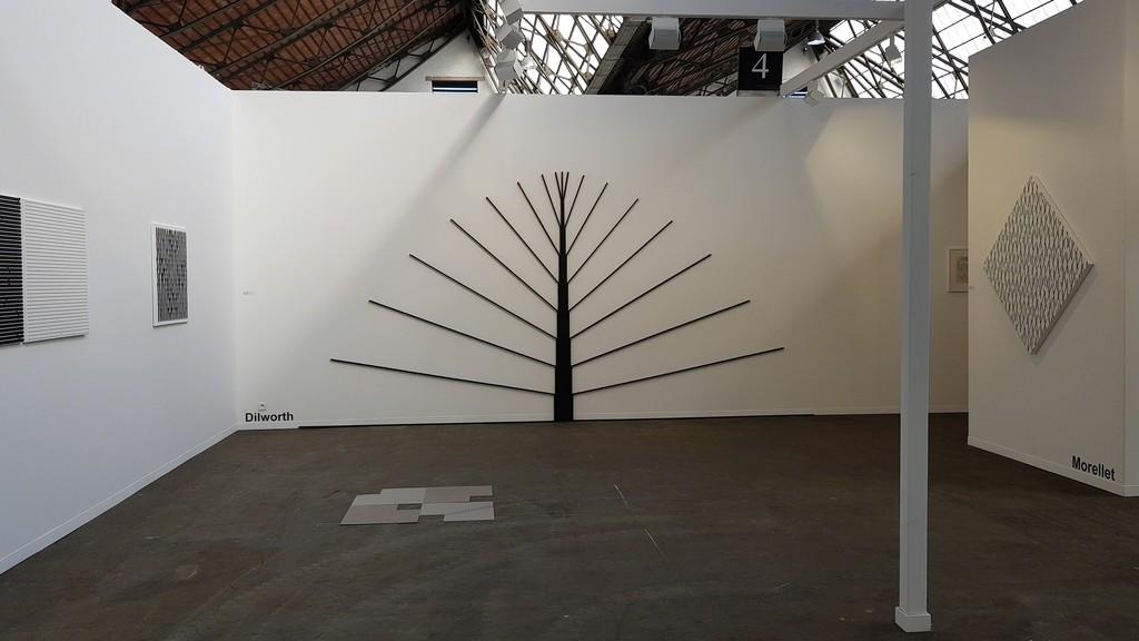 Vera Molnar + Norman Dilworth + François Morellet - Art Brussels April 2018 - Oniris Gallery booth