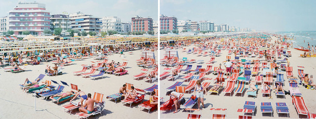 Massimo Vitali, 'Riccione (Diptych)', ca. 2002, Photography, Offset Lithographs on Consort Royal 300gm paper, Kenneth A. Friedman & Co.