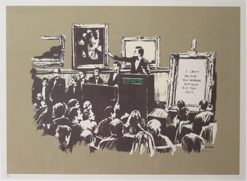 Banksy, 'Sepia Morons', 2007, Lougher Contemporary