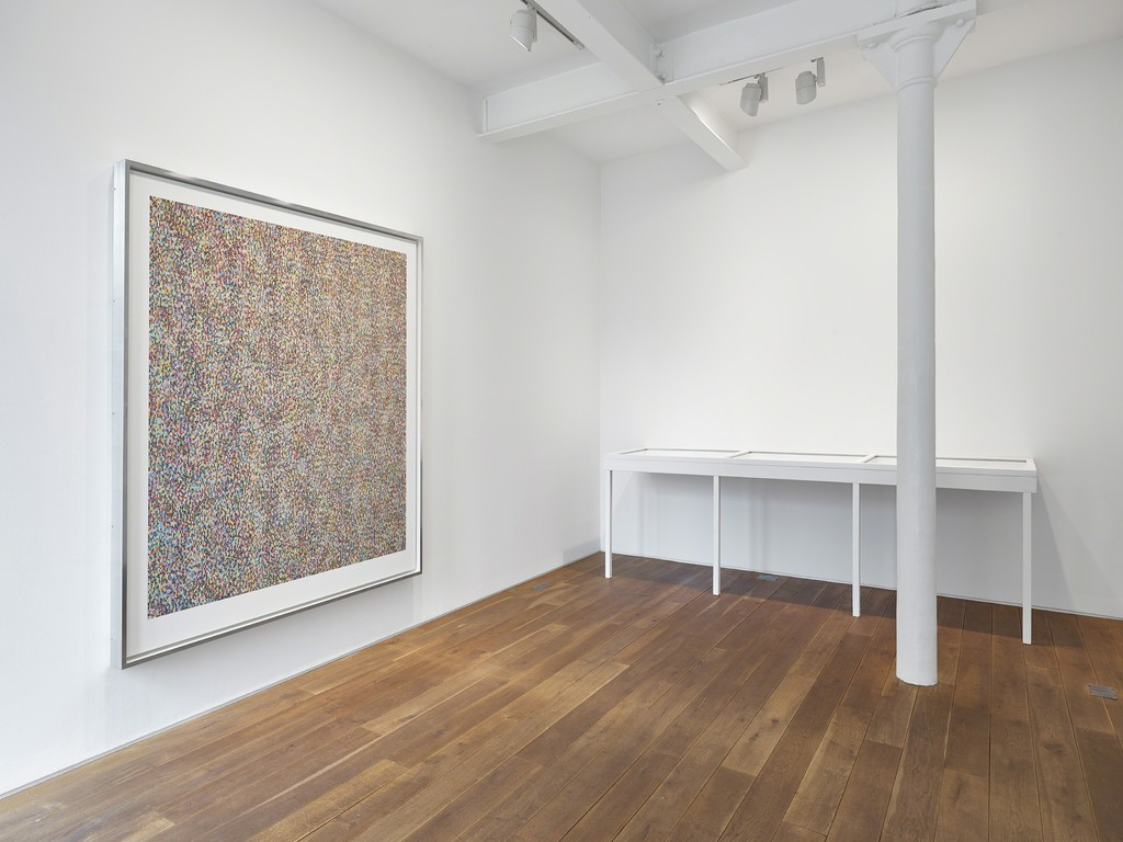 Installation view of James Hugonin's solo exhibition 'Binary Rhythm: Paintings 2010 - 2015'