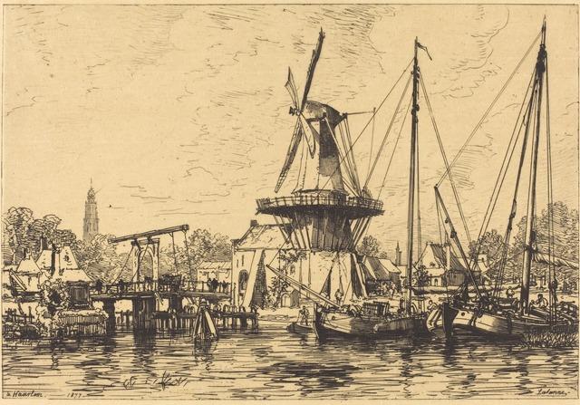 Maxime Lalanne, 'A Haarlem', 1877, National Gallery of Art, Washington, D.C.