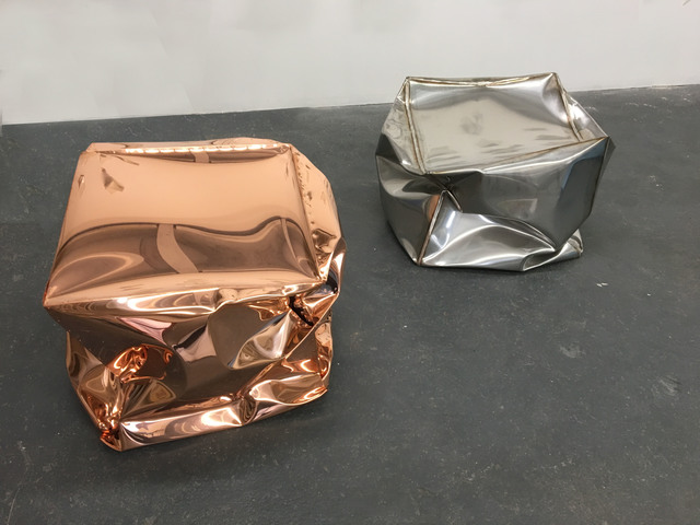 , 'Crushed Cubes (copper and stainless),' 2018, Carolina Nitsch Contemporary Art