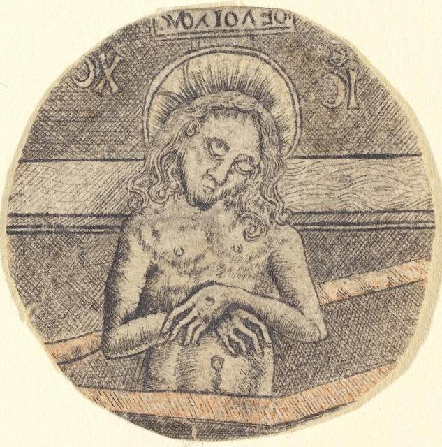 after Israhel van Meckenem, 'Christ as the Man of Sorrows', ca. 1470/1480, Print, Engraving, National Gallery of Art, Washington, D.C.