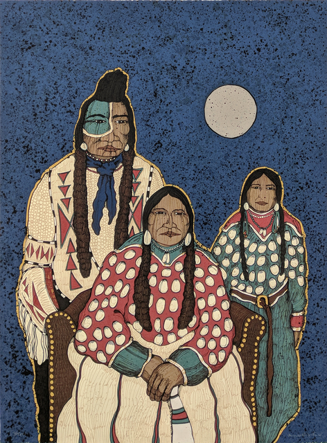 Kevin Red Star, 'CROW INDIAN FAMILY', 1980, Gallery Art