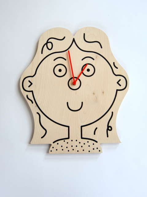 , 'Girl Clock,' , kinder MODERN