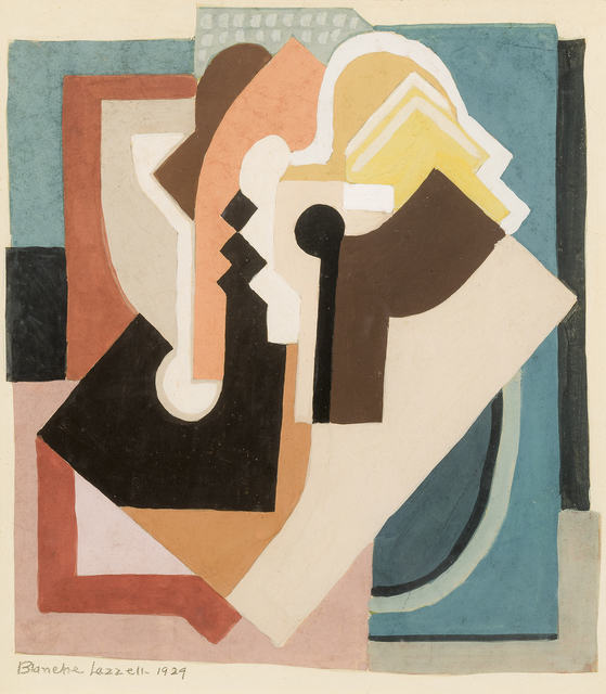 """, 'Study No. 4 for """"Painting XII"""",' 1929, Hirschl & Adler Galleries"""
