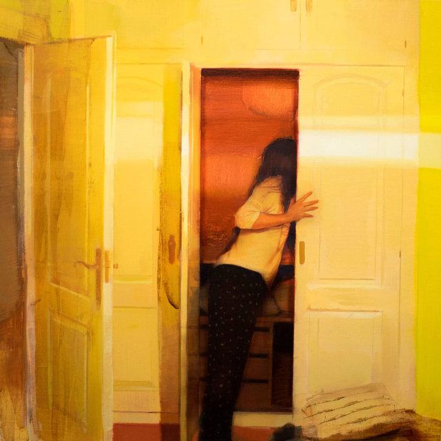Jose Luis Ceña, 'El secreto del armario', ca. 2019, Painting, Oil on canvas, Galeria Jordi Barnadas