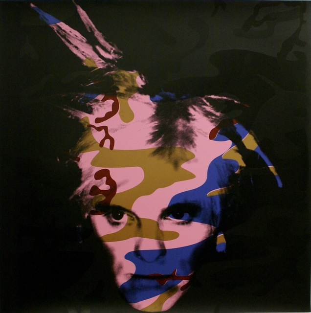 Gavin Turk, 'Camouflage Fright Wig- Blue and Bronze on Pink', 2007, Rhodes