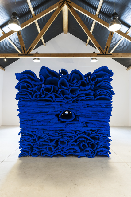 , 'Ultramarine blue cork stack,' 2019, Galerie Forsblom