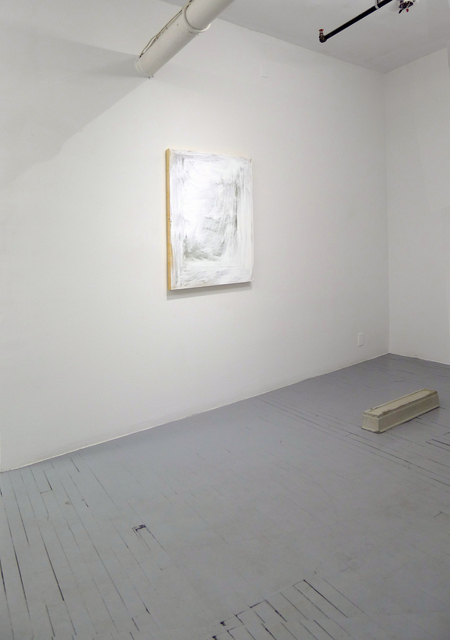 , 'CONCRETE, GLASS, NAILS, HOUSEPLANT AND WOOD FOR SCULPTURES ON SECTIONS OF WALLS,' 2015, FOLD Gallery