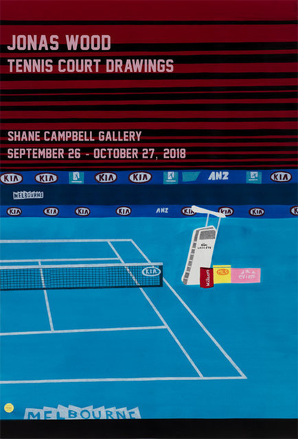 After Jonas Wood, 'Tennis Court Drawings', 2018, Chiswick Auctions