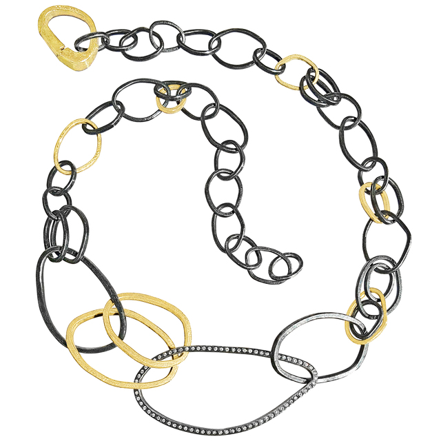 , 'White Diamond Signature Gold Patina Silver Elemental Links Necklace,' 2016, Szor Collections