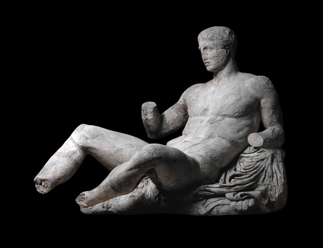 , 'Figure of Dionysos from the east pediment of the Parthenon,' ca. 438-432 BCE, British Museum