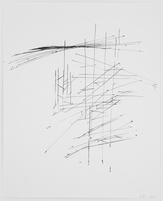 , 'Zeichnungsplan,' 2005, Maddox Arts