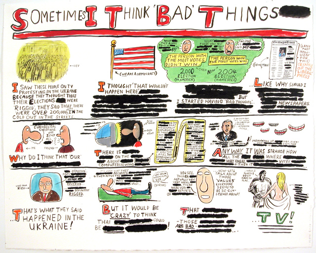 , 'Sometimes I Think 'Bad' Things,' 2004, Pierogi