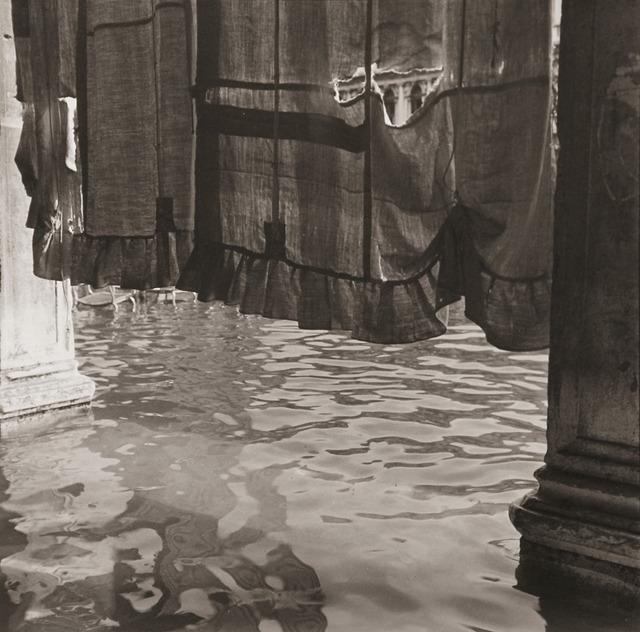 Bruce Cratsley, 'Curtain, St. Mark's Square (Alta Aqua), Venice', October 1980/1981, Photography, Gelatin silver print, ClampArt