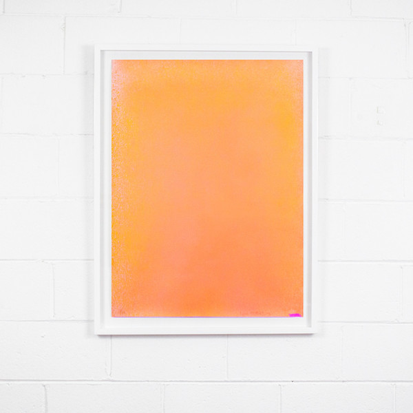 "Jules Olitski ""ORANGE SPRAY"" , 1970"