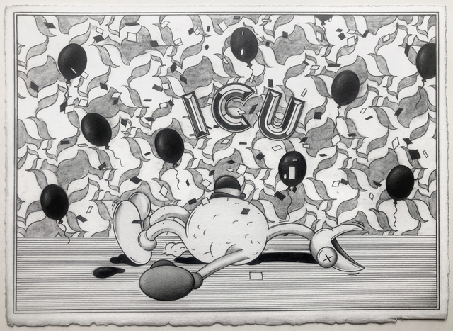 Ryan Travis Christian, 'I.C.U', 2019, Drawing, Collage or other Work on Paper, Graphite on Paper, Kumi Contemporary / Verso Contemporary